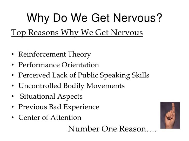why we get nervous