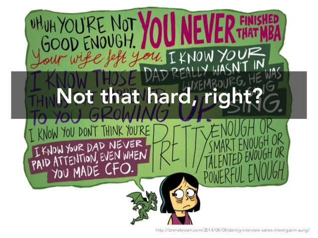 Not that hard, right? http://brenebrown.com/2014/04/08/daring-interview-series-meet-gavin-aung/