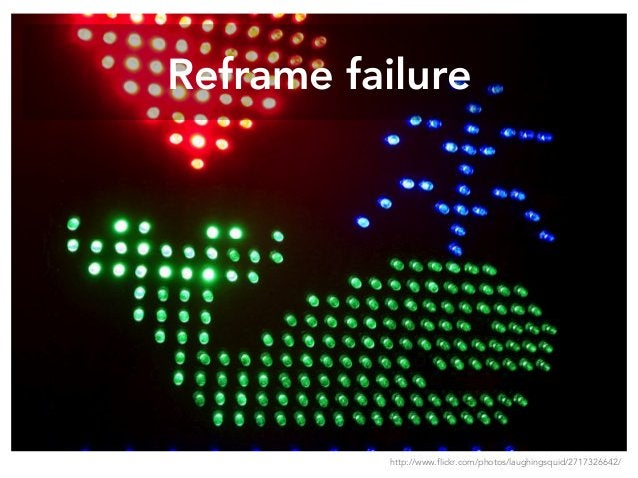 Reframe failure http://www.flickr.com/photos/laughingsquid/2717326642/