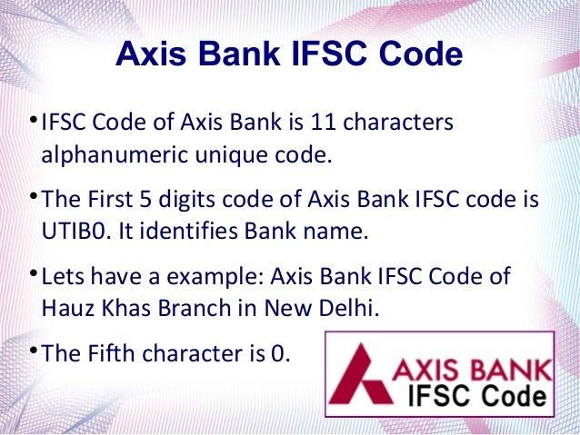 axis bank ifsc code new delhi