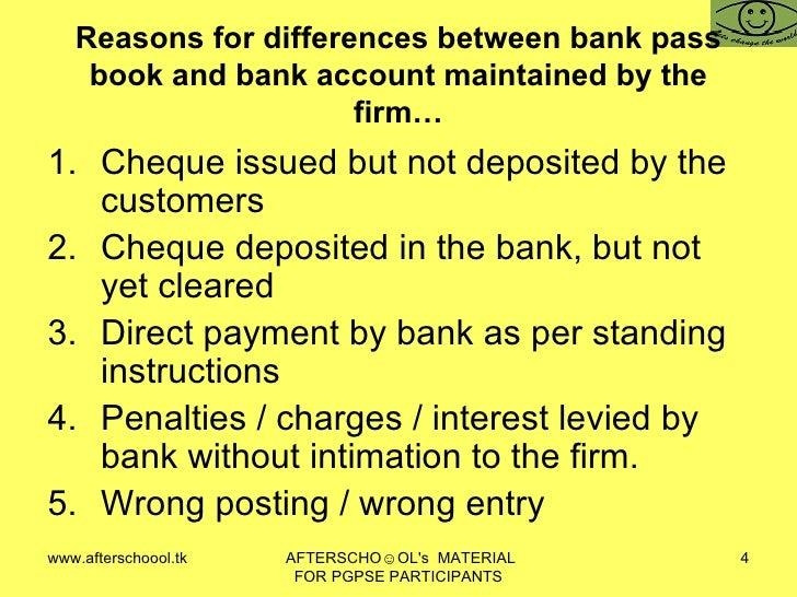 Bank Reconciliation Statement