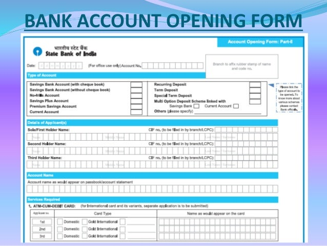 Open Bank Account Bank Account Opening And Online Banking