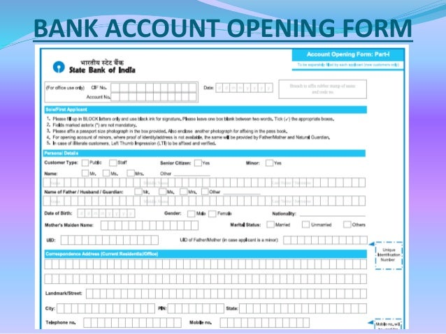 Bank Account Opening And Online Banking