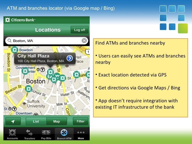 Mobile banking  ATM locator  Augmented Reality ATM finder