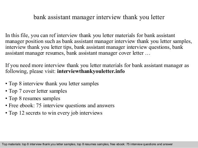 Bank assistant manager