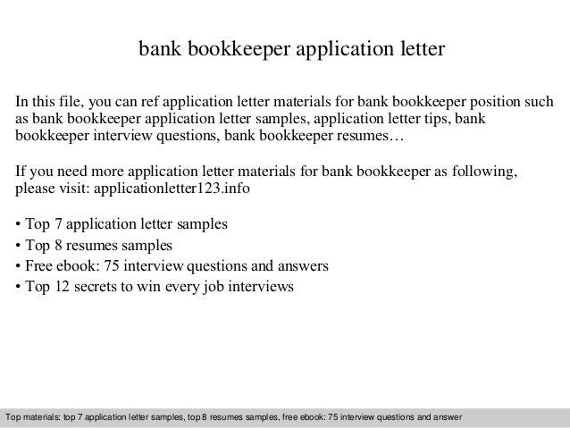 bookkeeper resume cover letters