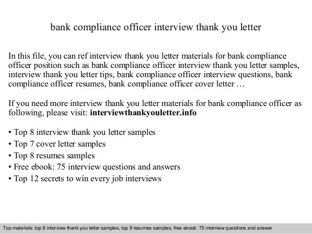Bank Compliance Officer