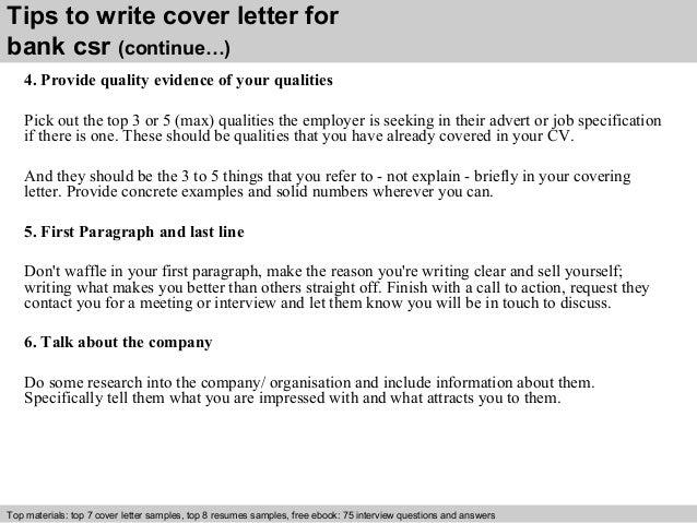Csr Cover Letter | Resume CV Cover Letter