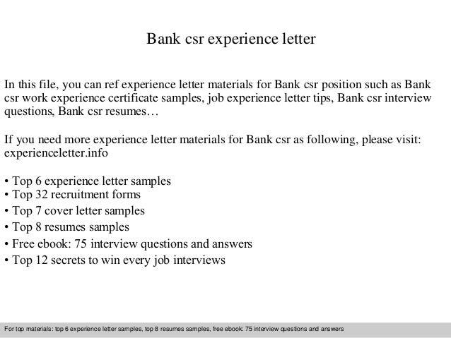 Csr Manager Cover Letter