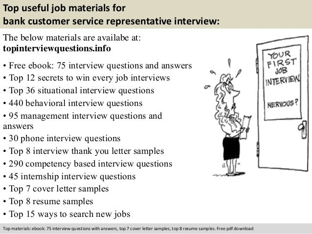 Charming Free Pdf Download; 10. Top Useful Job Materials For Bank Customer Service  Representative Interview: ...