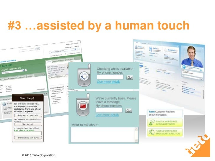 #3 …assisted by a human touch<br />