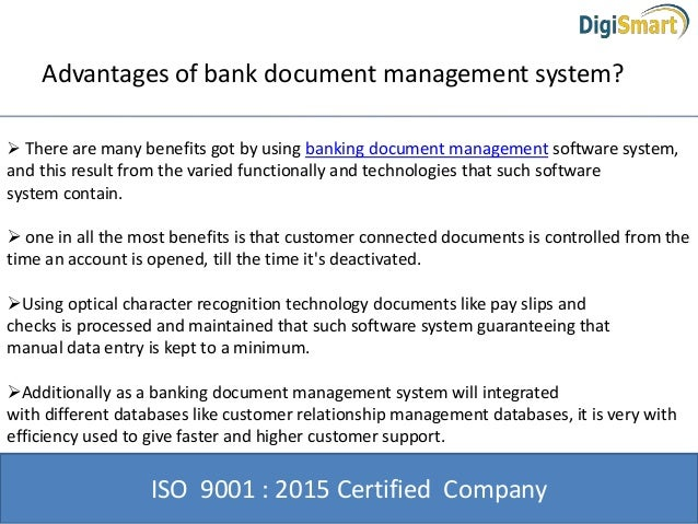 why bank document management system software is important With bank document management system