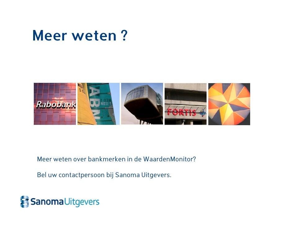 Bankmerken waarde for Sanoma uitgevers