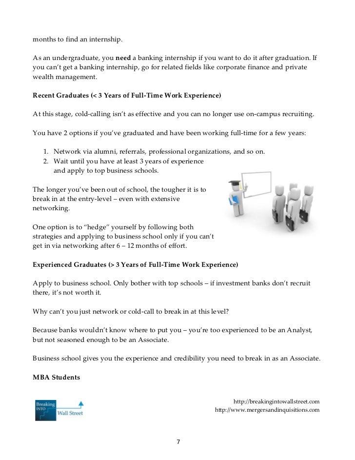 Banker blueprint 7 months to find an internship malvernweather Gallery