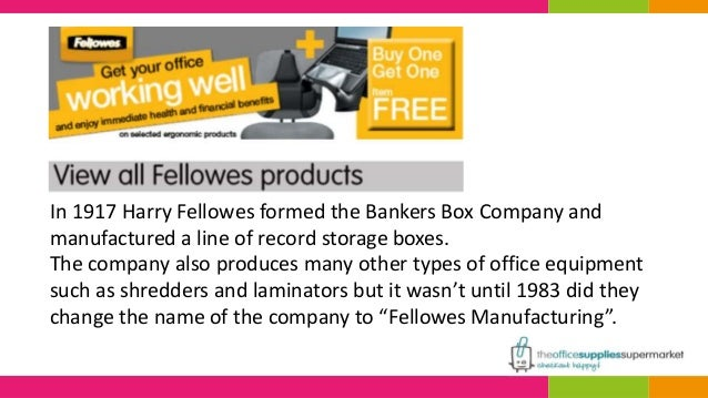 7 in harry fellowes formed the bankers box