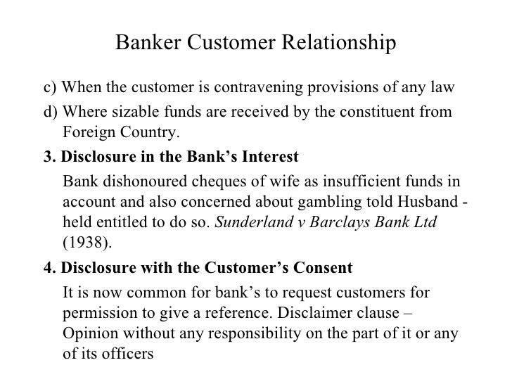 bank and customer relationship