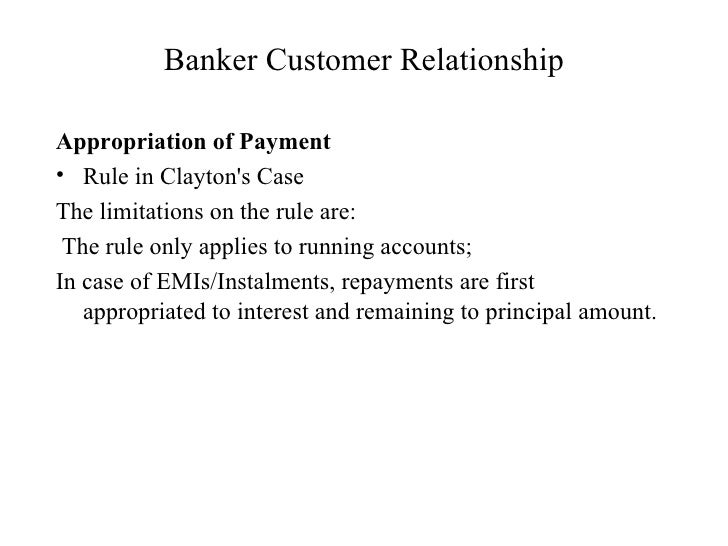 the relationship of a customer banker
