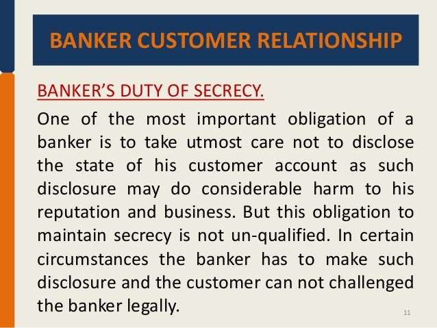 banker customer relationship duties and responsibilities