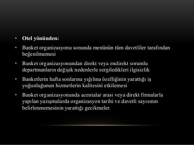Banket organizasyonu ve yönetim
