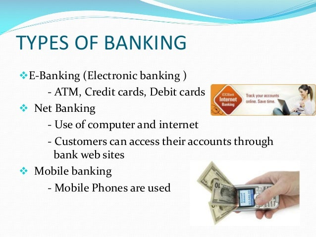 types of electronic banking