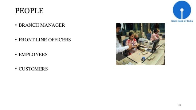 PEOPLE  • BRANCH MANAGER  • FRONT LINE OFFICERS  • EMPLOYEES  • CUSTOMERS  21