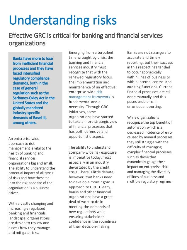 impact of internal control systems on banking industry Fraud detection using data analytics in the banking industry the internal controls framework.