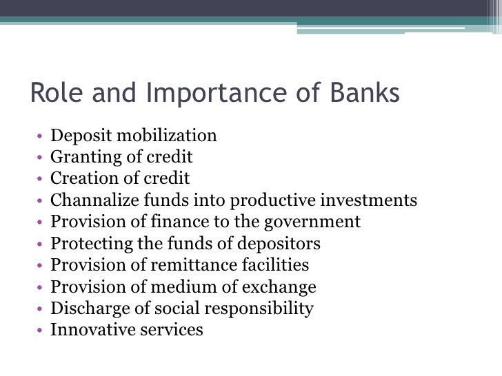 importance of financial institution My subject is the important role the nonbank financial sector plays in the importance of the nonbank financial these financial institutions evolved.
