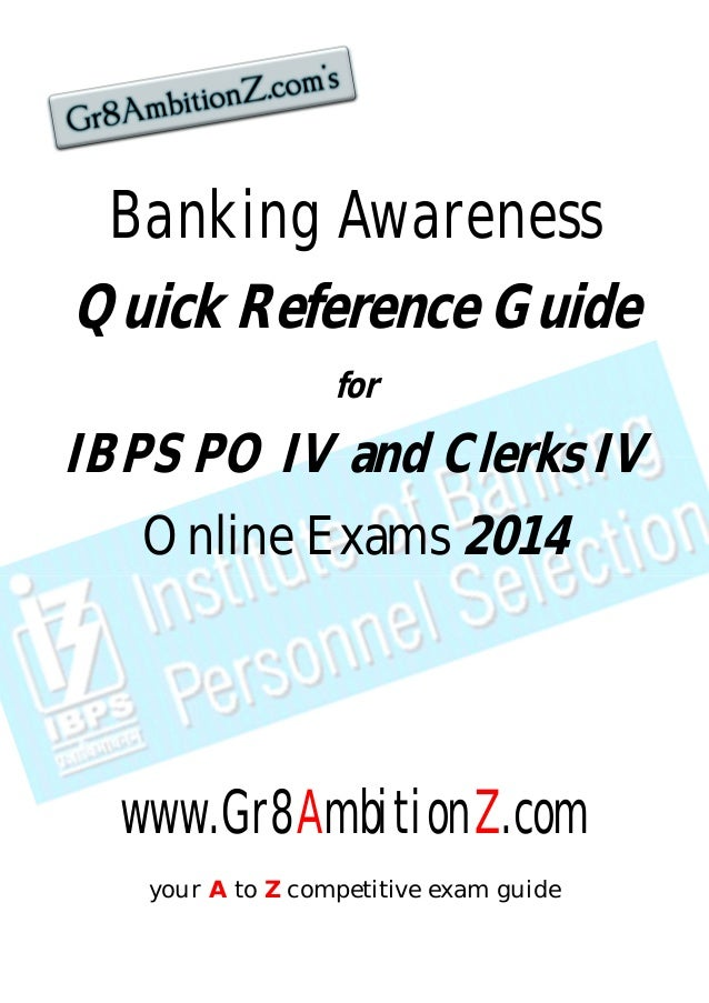 banking awareness quick reference guide 2014 gr8 ambitionz rh slideshare net Bank Exam Funny Bank Examiner