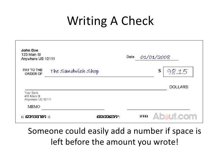 Write a check overdraft fee