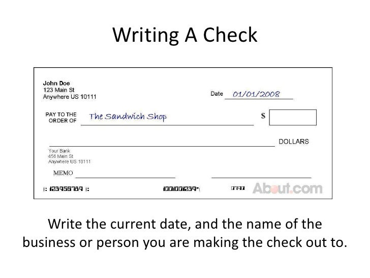 Banking basics powerpoint writing a checkbr ccuart Choice Image