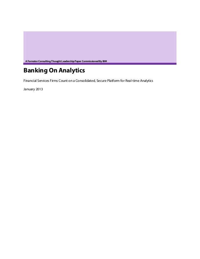 Banking on analytics