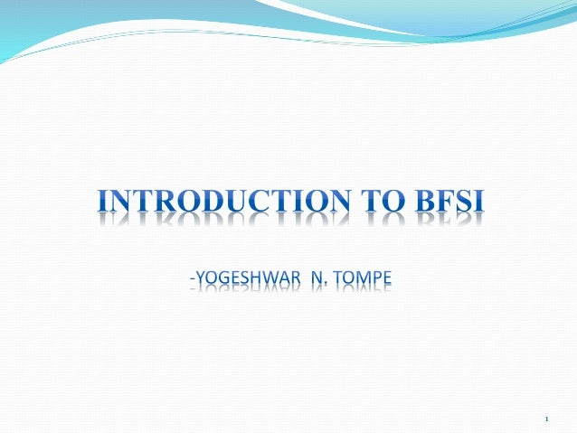 Banking domain presentation