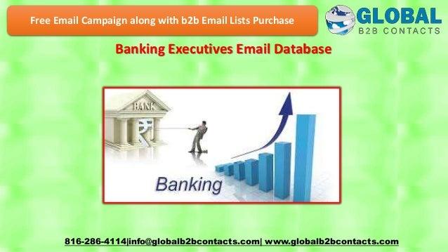 Banking executives email database