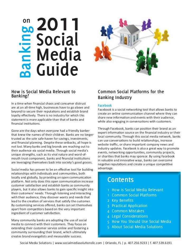 2011 Guide to Banks Using Social Media