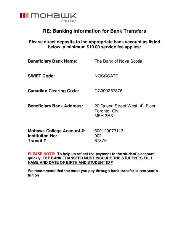 RE: Banking Information for Bank Transfers Please direct deposits to the appropriate bank account as listed below, a minim...