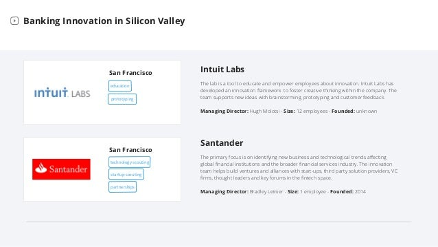 Bank Labs in Silicon Valley Slide 5