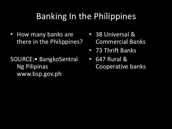 non bank thrift institutions in the philippines Institutions providing microfinance services in the philippines include: several of these institutions (ex thrift banks and non-bank credit institutions are.