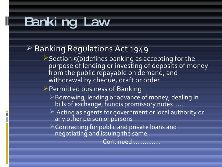 Llb Banking Law Notes