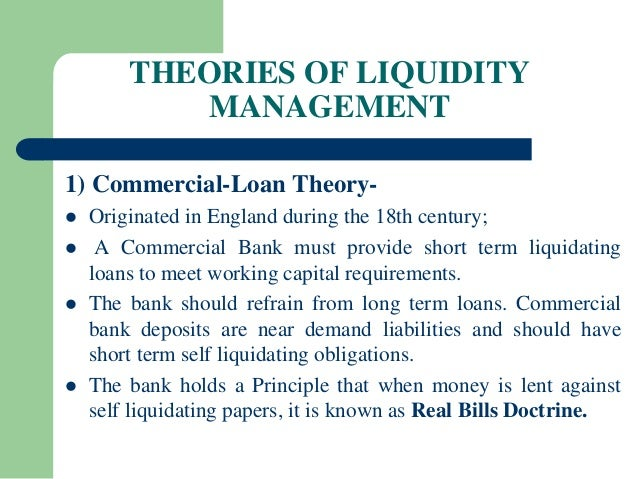 Principle of self liquidating debt management