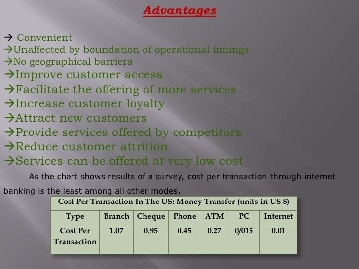 Advantages<br />ConvenientUnaffected by boundation of operational timingsNo geographical barriers<br />Improve custome...