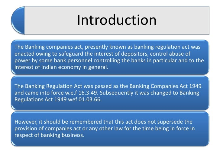 banking regulation act Statutes and regulations bank secrecy act  the official title of the usa patriot act is uniting and strengthening america by providing appropriate tools .