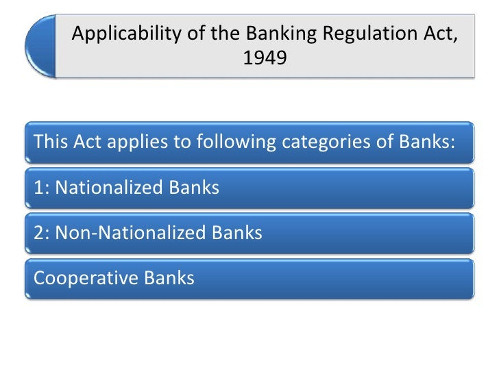 Banking and its regulation