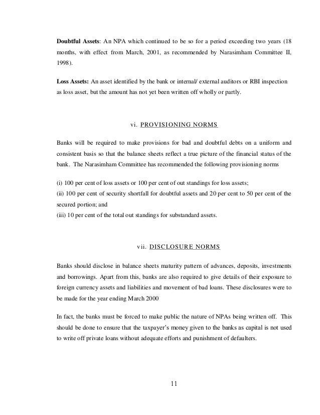 narasimham committee mrunal