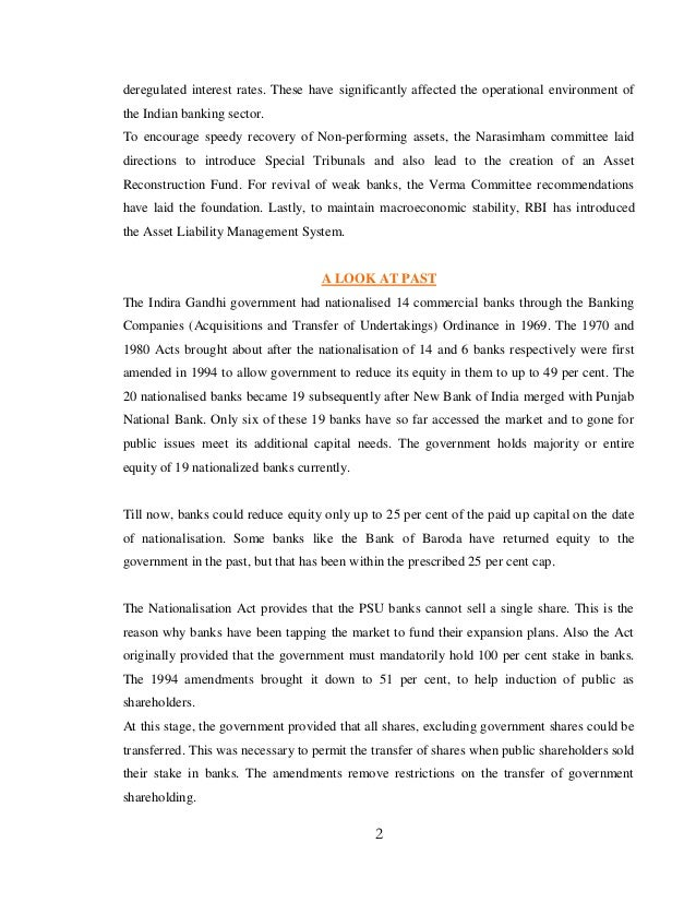 banking sector reform in india Free essay: abstract on banking sector reforms in india policies and impacts the banking sector reforms in india were started as.