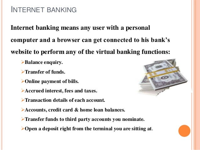 online banking functions