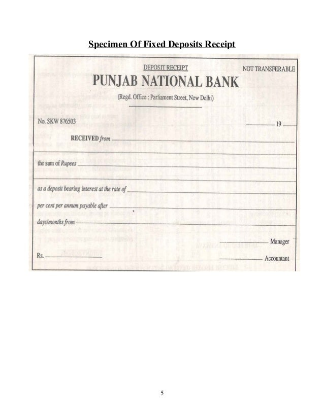 Banking system specimen of fixed deposits receipt 5 thecheapjerseys Choice Image