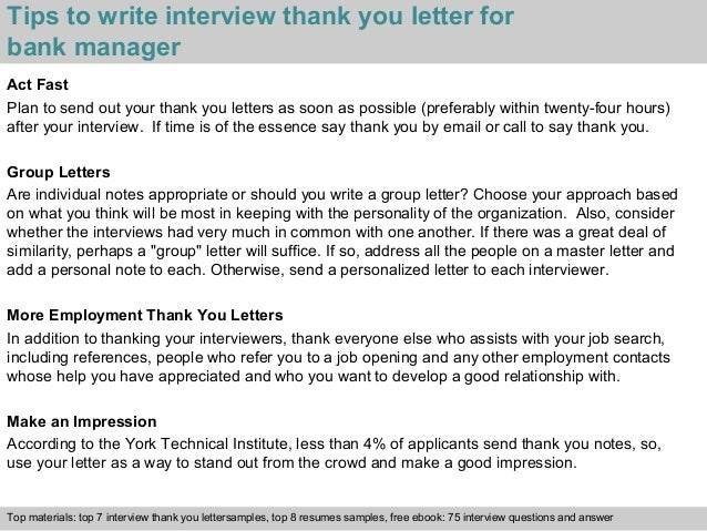 Bank manager 3 tips to write interview thank you letter for bank manager spiritdancerdesigns Gallery