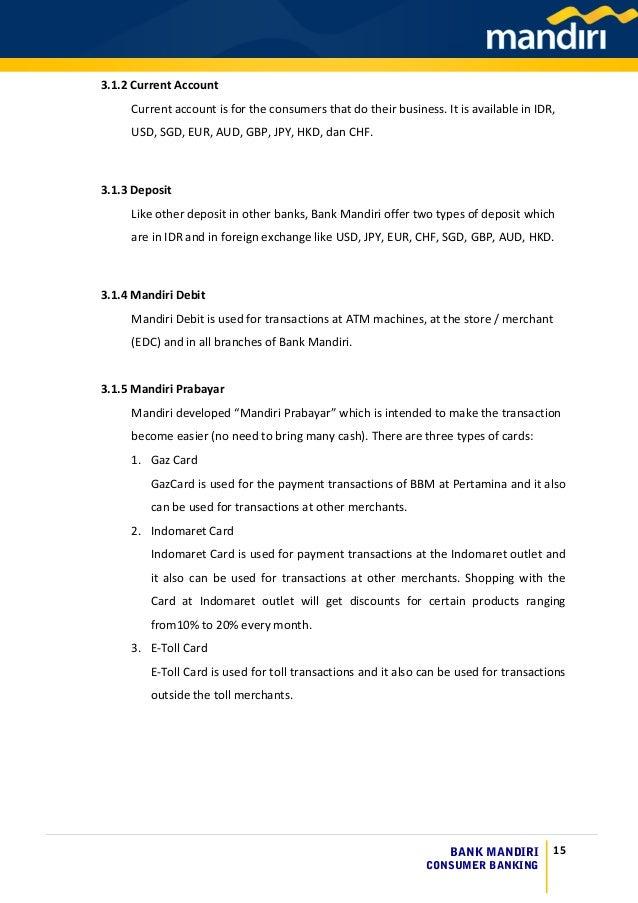 Bank Mandiri Consumer Banking Case Study
