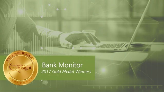 Bank Monitor 2017 Gold Medal Winners