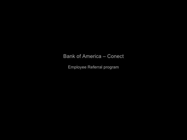 Bank of America – Conect Employee Referral program
